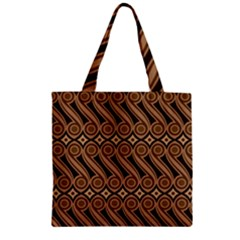 Batik The Traditional Fabric Zipper Grocery Tote Bag by BangZart