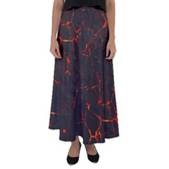 Volcanic Textures Flared Maxi Skirt