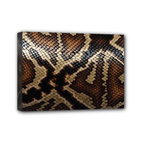 Snake Skin Olay Mini Canvas 7  X 5  by BangZart