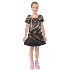 Snake Skin Olay Kids  Short Sleeve Velvet Dress