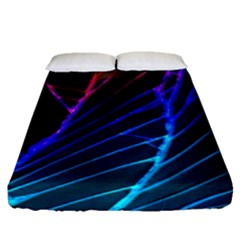 Cracked Out Broken Glass Fitted Sheet (queen Size)
