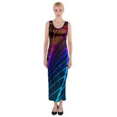 Cracked Out Broken Glass Fitted Maxi Dress