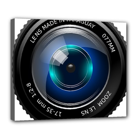 Camera Lens Prime Photography Deluxe Canvas 24  X 20   by BangZart