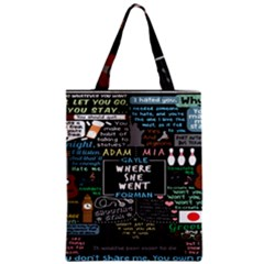 Book Quote Collage Zipper Classic Tote Bag