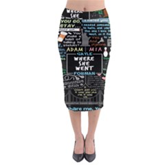 Book Quote Collage Midi Pencil Skirt by BangZart