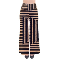 Wooden Pause Play Paws Abstract Oparton Line Roulette Spin Pants by BangZart