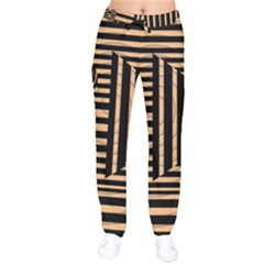Wooden Pause Play Paws Abstract Oparton Line Roulette Spin Drawstring Pants