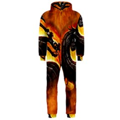 Dragon And Fire Hooded Jumpsuit (men)