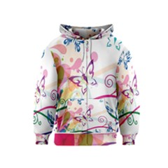 Butterfly Vector Art Kids  Zipper Hoodie