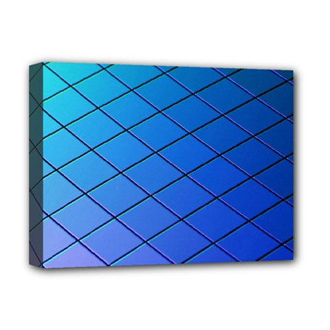 Blue Pattern Plain Cartoon Deluxe Canvas 16  X 12