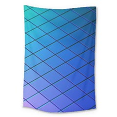 Blue Pattern Plain Cartoon Large Tapestry