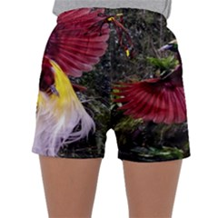 Cendrawasih Beautiful Bird Of Paradise Sleepwear Shorts