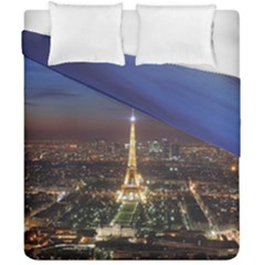 Paris At Night Duvet Cover Double Side (california King Size) by BangZart