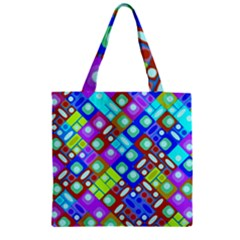 Pattern Factory 32b Zipper Grocery Tote Bag by MoreColorsinLife