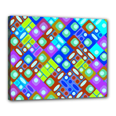 Pattern Factory 32b Canvas 20  X 16  by MoreColorsinLife