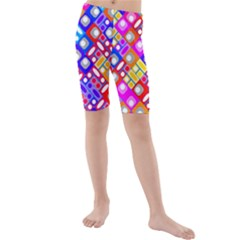 Pattern Factory 32a Kids  Mid Length Swim Shorts by MoreColorsinLife