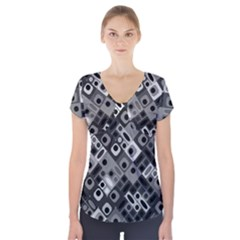 Pattern Factory 32f Short Sleeve Front Detail Top by MoreColorsinLife