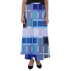Blockedin Flared Maxi Skirt