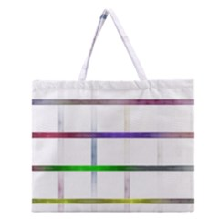 Blurred Lines Zipper Large Tote Bag by designsbyamerianna