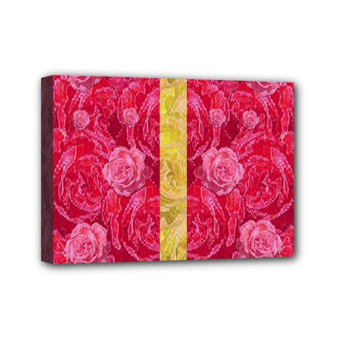 Rose And Roses And Another Rose Mini Canvas 7  X 5  by pepitasart