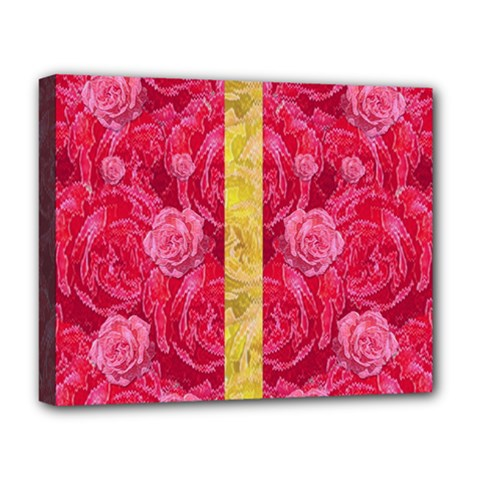 Rose And Roses And Another Rose Deluxe Canvas 20  X 16   by pepitasart