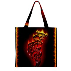 Dragon Fire Grocery Tote Bag by BangZart