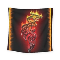 Dragon Fire Square Tapestry (small)