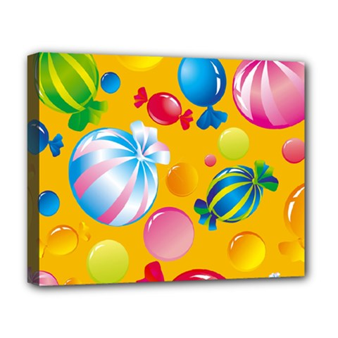 Sweets And Sugar Candies Vector  Deluxe Canvas 20  X 16