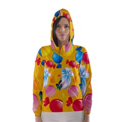Sweets And Sugar Candies Vector  Hooded Wind Breaker (women) by BangZart