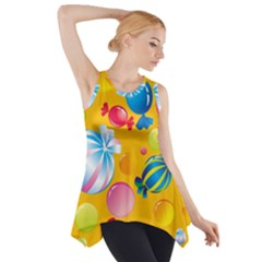 Sweets And Sugar Candies Vector  Side Drop Tank Tunic