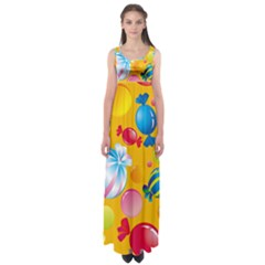 Sweets And Sugar Candies Vector  Empire Waist Maxi Dress