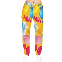 Sweets And Sugar Candies Vector  Drawstring Pants