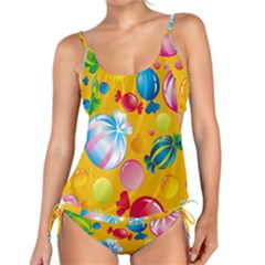 Sweets And Sugar Candies Vector  Tankini Set