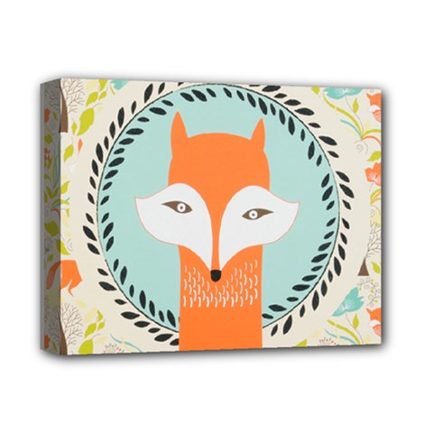 Foxy Fox Canvas Art Print Traditional Deluxe Canvas 14  X 11