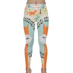 Foxy Fox Canvas Art Print Traditional Classic Yoga Leggings