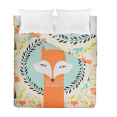 Foxy Fox Canvas Art Print Traditional Duvet Cover Double Side (full/ Double Size) by BangZart
