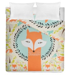 Foxy Fox Canvas Art Print Traditional Duvet Cover Double Side (queen Size)