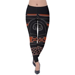 Traditional Northwest Coast Native Art Velvet Leggings