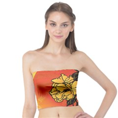 Vector Asian Flowers Tube Top by BangZart