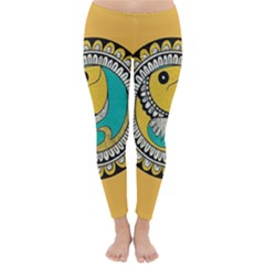 Madhubani Fish Indian Ethnic Pattern Classic Winter Leggings