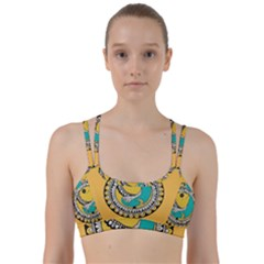 Madhubani Fish Indian Ethnic Pattern Line Them Up Sports Bra
