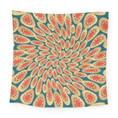 Stars Twirl Square Tapestry (large)