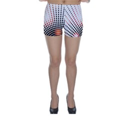 Radial Dotted Lights Skinny Shorts