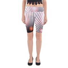 Radial Dotted Lights Yoga Cropped Leggings
