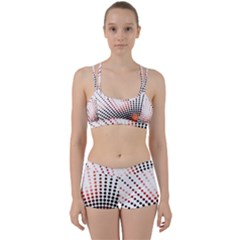 Radial Dotted Lights Women s Sports Set