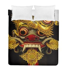 Bali Mask Duvet Cover Double Side (full/ Double Size)