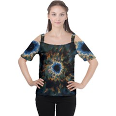 Crazy  Giant Galaxy Nebula Cutout Shoulder Tee