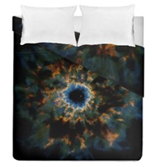 Crazy  Giant Galaxy Nebula Duvet Cover Double Side (queen Size)