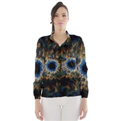 Crazy  Giant Galaxy Nebula Wind Breaker (women) by BangZart