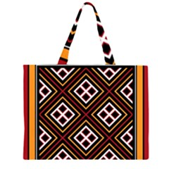 Toraja Pattern Pa re po  Sanguba ( Dancing Alone ) Zipper Large Tote Bag by BangZart